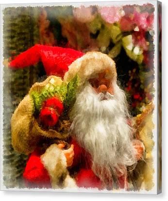 Nativity Canvas Print - Christmas Santa Claus by Esoterica Art Agency
