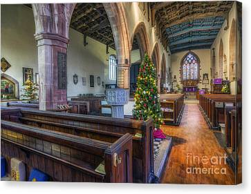 Church At Christmas Canvas Print by Ian Mitchell