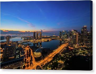 cityscape of Singapore city  Canvas Print