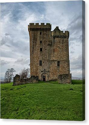 Canvas Print featuring the photograph Clackmannan Tower by Jeremy Lavender Photography
