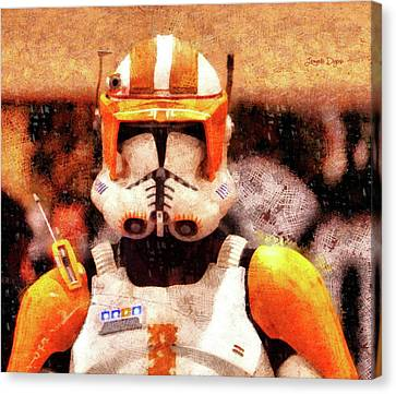 Trooper Canvas Print - Clone Trooper Commander - Wax Style by Leonardo Digenio