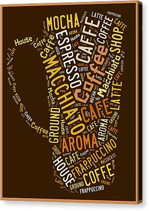 Coffee Menu Collection Canvas Print by Marvin Blaine