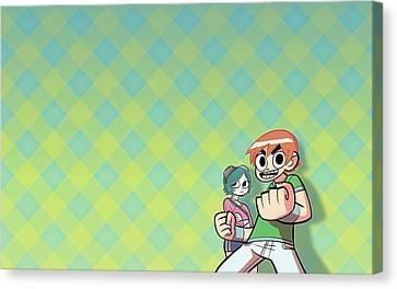 Scott Pilgrim Canvas Print - Comics Scott Pilgrim                    by F S