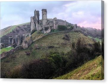 Corfe Castle - England Canvas Print by Joana Kruse
