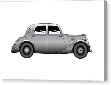 Canvas Print featuring the digital art Coupe - Vintage Model Of Car by Michal Boubin
