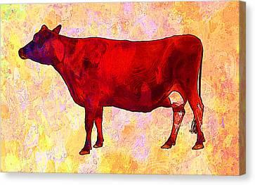 Cow Canvas Print by Elena Kosvincheva