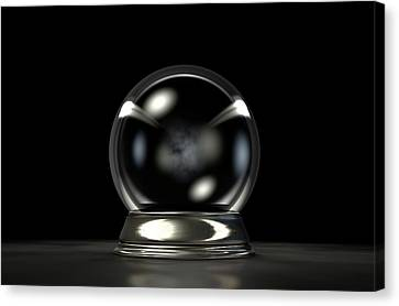 Crystal Ball Dark Canvas Print by Allan Swart