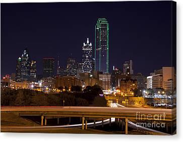 Dallas Texas Night Canvas Print