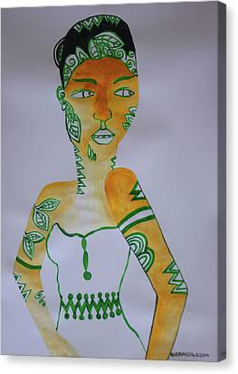 Decorated African Queen Canvas Print by Gloria Ssali