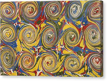 Decorative Endpaper From A Nineteenth Canvas Print by Vintage Design Pics