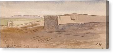 Dendera Canvas Print - Dendera by Edward Lear