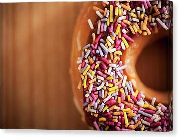 Donut And Sprinkles Canvas Print by Samuel Whitton