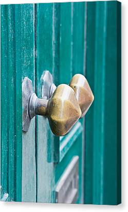 Door Handles Canvas Print by Tom Gowanlock