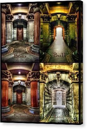Cityhall Canvas Print - 4 Doors - Philadelphia City Hall by Dan Stone