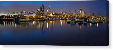 Downtown Chicago From Burnham Harbor Canvas Print by Twenty Two North Photography
