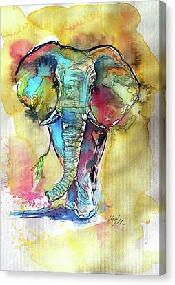 Elephant Canvas Print by Kovacs Anna Brigitta