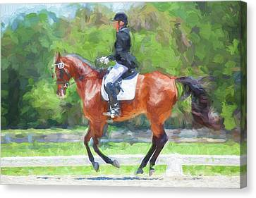 Horse Stable Canvas Print - Equestrian Event Rocking Horse Stables Painted  by Rich Franco