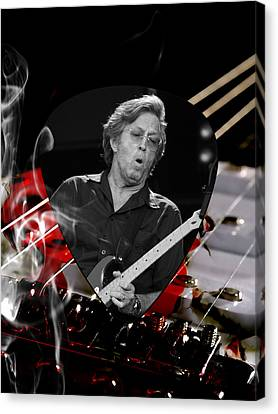 Eric Clapton Canvas Print - Eric Clapton Art by Marvin Blaine