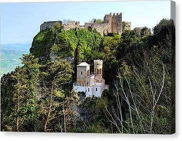 Erice - Sicily Canvas Print by Joana Kruse