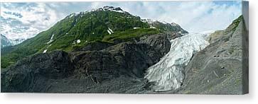 Exit Glacier Canvas Print by Jon Manjeot