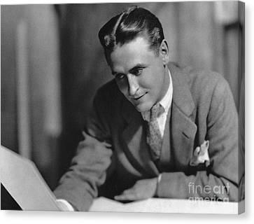 F. Scott Fitzgerald Canvas Print by Granger