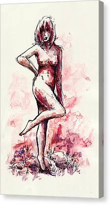 Figure Study Canvas Print by Rachel Christine Nowicki