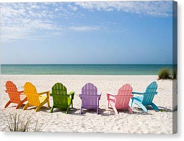 Chair Canvas Print - Florida Sanibel Island Summer Vacation Beach by ELITE IMAGE photography By Chad McDermott