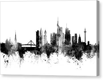 Frankfurt Germany Skyline Canvas Print