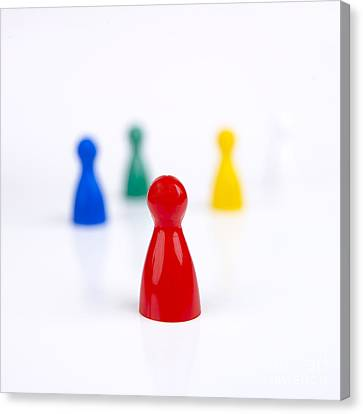 Frustration Canvas Print - Game Pieces In Various Colours by Bernard Jaubert