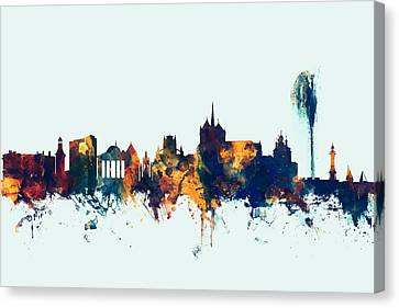 Geneva Switzerland Skyline Canvas Print by Michael Tompsett