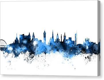 Glasgow Scotland Skyline Canvas Print by Michael Tompsett