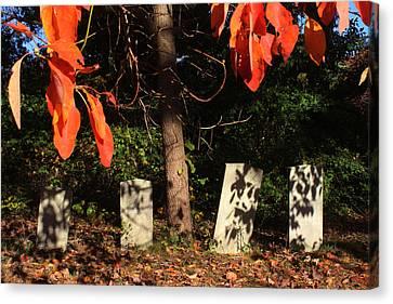 Graveyard Commack New York Canvas Print by Bob Savage