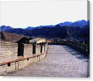 Canvas Print featuring the photograph Great Wall by Marti Green