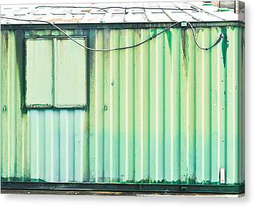 Green Metal Canvas Print by Tom Gowanlock