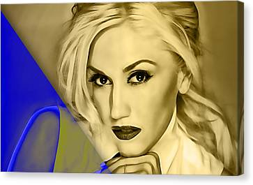 Gwen Stefani Collection Canvas Print by Marvin Blaine