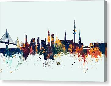 Hamburg Germany Skyline Canvas Print