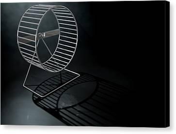 Routine Canvas Print - Hamster Wheel Empty by Allan Swart