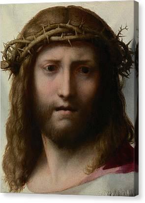 Head Of Christ Canvas Print by Correggio