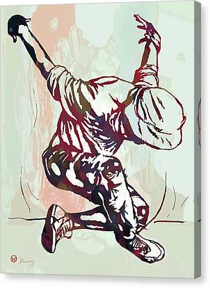 Dancing Canvas Print - Hip Hop Street Dancing  Pop Art Poster   by Kim Wang