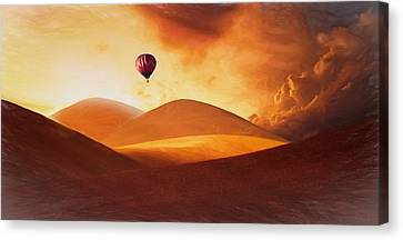 Hot Air Balloon Canvas Print by FL collection