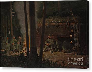 Colonial Man Canvas Print - In Front Of Yorktown by Winslow Homer