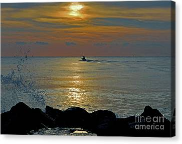 Canvas Print featuring the photograph 4- Into The Day by Joseph Keane