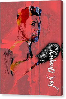 Jack Dempsey Collection Canvas Print by Marvin Blaine