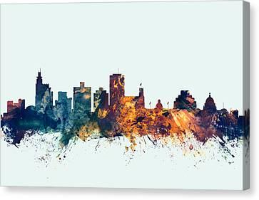 Jackson Mississippi Skyline Canvas Print
