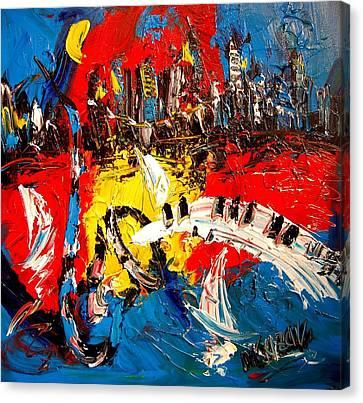Jazz Canvas Print by Mark Kazav