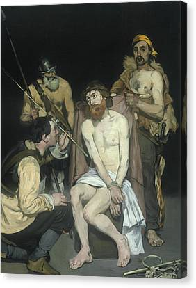 Jesus Mocked By The Soldiers Canvas Print by Edouard Manet