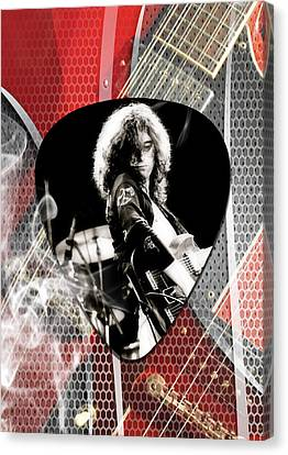 Jimmy Page Art Canvas Print
