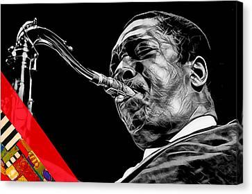 Legends Canvas Print - John Coltrane Collection by Marvin Blaine