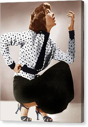 Katharine Hepburn, Ca. 1930s Canvas Print by Everett