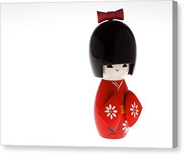 Kokeshi Doll Canvas Print by Larry Dale Gordon - Printscapes